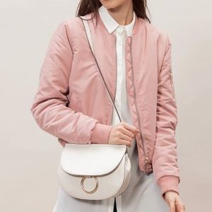 Stradivarius Dusty Pink Bomber Jacket